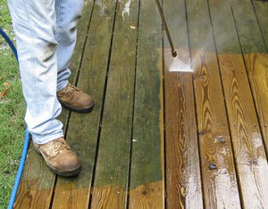Wooden Deck Cleaning